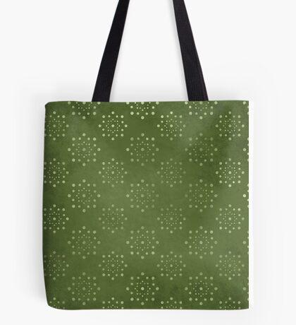 Green Dot Circles Tote Bag