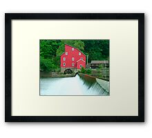Falls and Mill Framed Print