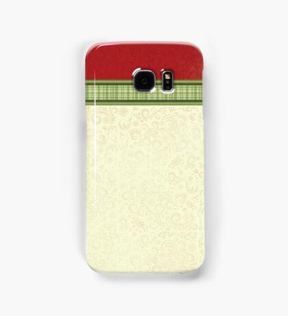 Red & Green Ribbon Samsung Galaxy Case/Skin