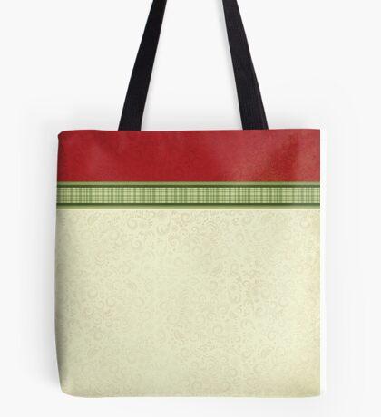 Red & Green Ribbon Tote Bag