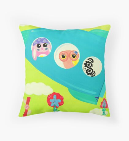 Journey With Time Throw Pillow