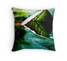 Leaf Catcher © Throw Pillow