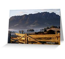 photoj Tasmania Mt Roland Greeting Card