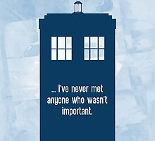 Doctor Who  - Tardis with Quote  by pithypenny