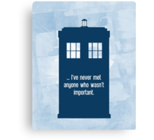Doctor Who  - Tardis with Quote  Canvas Print