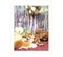Teddy Bears Picnic and Katy Koala drops in for a bit of fun too Art Print