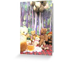 Teddy Bears Picnic and Katy Koala drops in for a bit of fun too Greeting Card