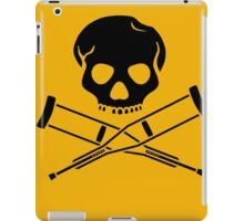 Skull with crutches. iPad Case/Skin
