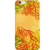 Hand drawn grunge floral design iPhone Case/Skin