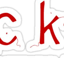 fcku: fashion consumes Sticker