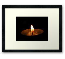 lonely light Framed Print