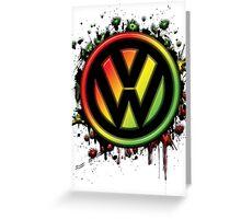 Reggae Volkswagen Greeting Card