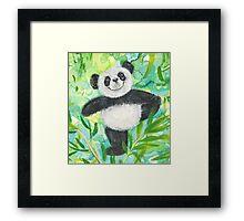 Panda Bear pose Framed Print