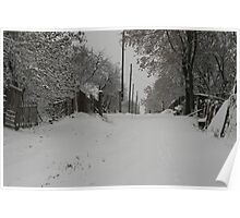 Winter in a Ukrainian village Poster