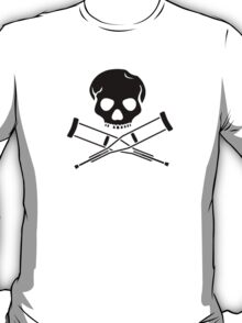 Skull with crutches. T-Shirt