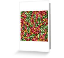 Seamless floral doodle pattern Greeting Card