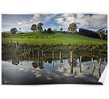 Dam Reflections Poster
