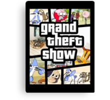 Grand Theft Show Canvas Print