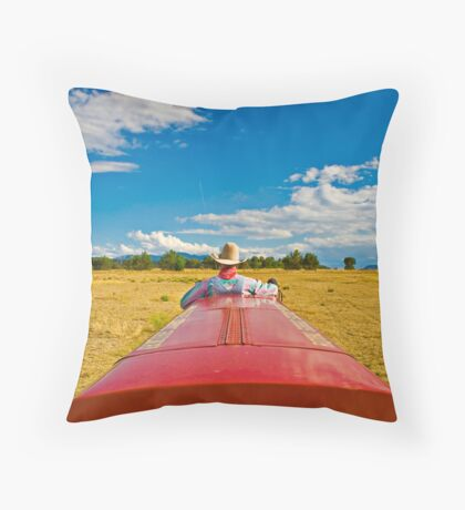 Riding My Train..... Throw Pillow