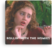 Tai Frasier Clueless Movie Rolling with the Homies Canvas Print