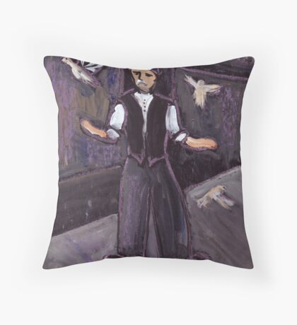 The pidgeon fancier Throw Pillow