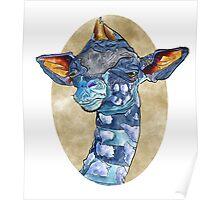 Zen Giraffe - Watercolour Poster