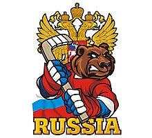 Hockey. Russia. Photographic Print