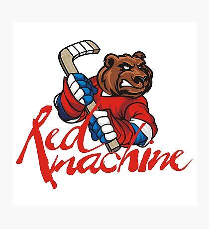 Hockey. Red machine. Russia. Photographic Print