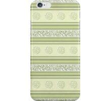 Fancy Green Stripes iPhone Case/Skin