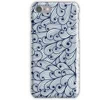 Blue doodle pattern with sky iPhone Case/Skin