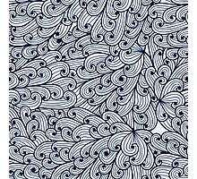 Blue doodle pattern with sky Photographic Print