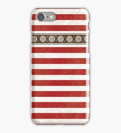 Fancy Red Stripes iPhone Case/Skin