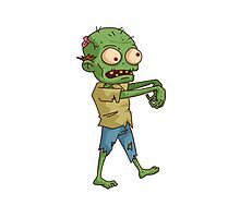 Zombie Cartoon Photographic Print
