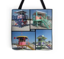 South Beach Huts Tote Bag