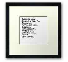 a few of my favorite things. Framed Print