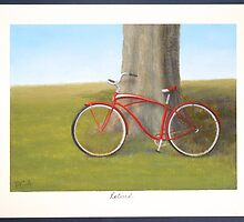 Retired old red Schwinn bicycle by PhyllisGAndrews