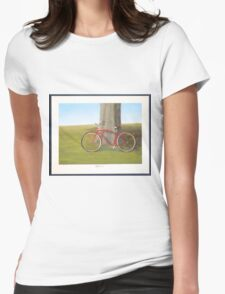 Retired old red Schwinn bicycle Womens Fitted T-Shirt