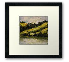 Greening Hills Framed Print
