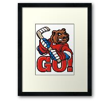 Hockey. Go! Framed Print