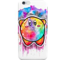 Cute Galaxy KIRBY - Watercolor Painting - Nintendo Jonny2may iPhone Case/Skin