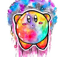 Cute Galaxy KIRBY - Watercolor Painting - Nintendo Jonny2may by Jonny2may
