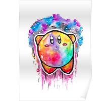 Cute Galaxy KIRBY - Watercolor Painting - Nintendo Poster