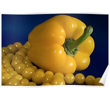 yellow paprika and beads Poster