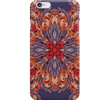 Vintage pattern with ornamental rectangles iPhone Case/Skin