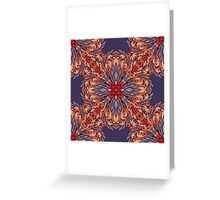 Vintage pattern with ornamental rectangles Greeting Card