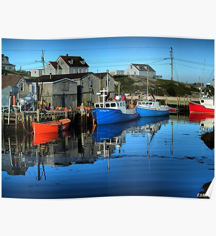 Morning in Peggy's Cove Poster