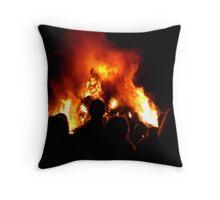 Bonfire night Throw Pillow