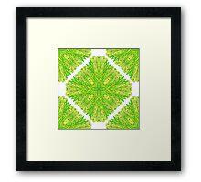 Hand drawn green ornamental rectangles Framed Print