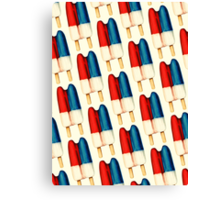 Double Popsicle Pattern Canvas Print