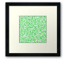 Green doodle pattern Framed Print